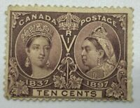 Canada Stamps #57 MH, OG - 1897 Diamond Jubilee 10 cents ST56