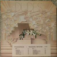 """DUDES """"We're No Angels""""  1975 PROMOTIONAL LP   (PC 33577)"""