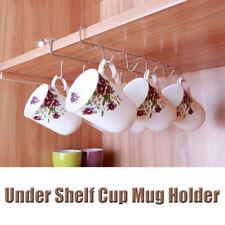 12 Hooks Under Shelf Tea Cup Mug Holder Hanger Storage Rack Kitchen Cupboard UK