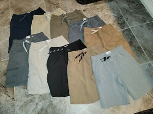 Lot of 10 Boy's Sz 8 Shorts Old Navy flat front cargo quick dry lightweight exc