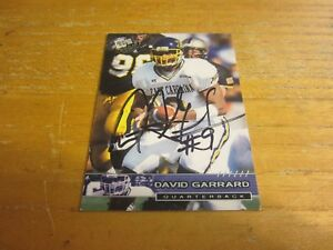 David Garrard Autographed Signed 2002 Press Pass #4 Card Jacksonville Jaguars