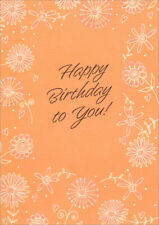 Pearlized Foil Flowers and Swirls Birthday Card by Freedom Greetings