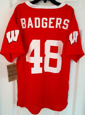 Wisconsin Badgers Youth Jersey Size Small 6/7 Kids Football Number 48 Red New