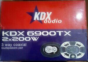 "Altavoces 6"" X 9"" 3 vias 200W Max 4Ohm KDX 6900TX"