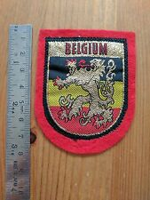 EMBROIDERY SEWING PATCH BADGE - BELGIUM CREST EMBLEM