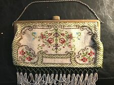 Beautifully Beaded Purse - 10 inches x 6 inches with 3 inch beading