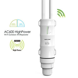 AC600 Wifi Outdoor Repeater 2.4G & 5G 2*Antennas for Signal Booster AP PoE