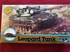 Sale!! MPC 1:76 Scale Sealed LEOPARD Military Tank Model Kit #1-6206-Retired-NIB