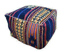 """Handcrafted Egyptian Moroccan Bedouin 20"""" Square Ottoman Pouf Footstool #MP08"""