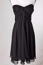 White House Black Market Strapless Short Chiffon Cocktail Dress 6 empire (Q)