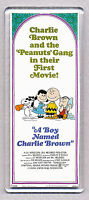A BOY NAMED CHARLIE BROWN movie poster 'WIDE' FRIDGE MAGNET - PEANUTS COOL!