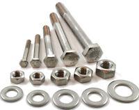 A2 Stainless Steel Part Threaded Hex Head Bolts Hexagon Screws DIN 931 M10 x 65-30 Pack