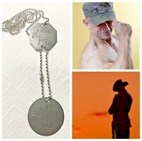 GENUINE AUSTRALIAN ADF MILITARY BRASS DOG TAGS ANZAC ARMY NAME ID+TIN+FREE TEXT