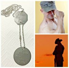 GENUINE CURRENT AUSTRALIAN ADF MILITARY DOGTAGS ANZAC ARMY NAME ID+TIN+FREE TEXT