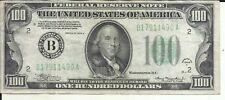 US 100$ DOLLAR BANKNOTE 1934  LETTER B.  VF CONDITION. 6RW 21JUN