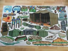 Felt Fabric Panel to Cut Out Figurines Religious Spiritual Sheep Shepherd Tents