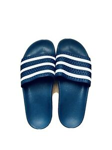 Adidas Originals Adilette Sliders. Blue and white. UK8.