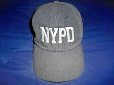 RETRO NYPD BLACK BASEBALL CAP STRAP ADJUSTABLE ALTERNATIVE APPAREL #98269