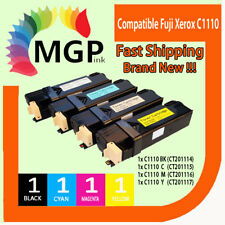 4 x C1110 Color Docuprint printer toner cartridges for Fuji Xerox C1110,C1110B