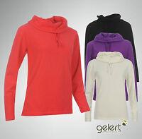 Womens Ladies Gelert Cowl Neck Fleece Long Sleeve Top Size 6 8 10 12 14 16 18 20