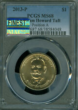 2013-P HOWARD TAFT DOLLAR PCGS MS-68 POS-A MAC FINEST MAC SPOTLESS POP-11  *