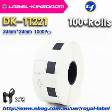 100 Rolls Brother QL-570 Compatible DK-11221 Labels 23mm*23mm Adhesive Sticker