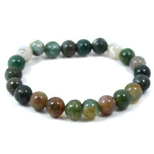 Bloodstone 8 mm Beads Crystal Stone Bracelet