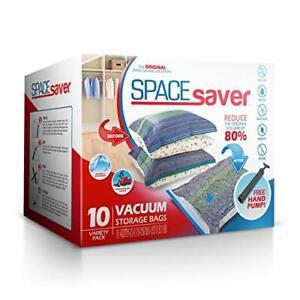 Premium Vacuum Storage Bags. 80% More Storage! Hand-Pump for Travel!