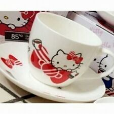 Hello Kitty Cup & Saucer Promotion Set 85 Cafe TAIWAN Limited Ed. Ceramic Dish