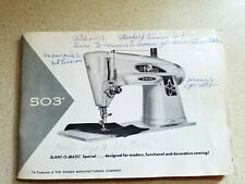 Vintage Singer Slant-O-Matic 503 Sewing Machine Manual