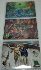 2013 Mars Attacks Topps Masterpieces set 3 Cards (of 5 Card insert set) NM/VF