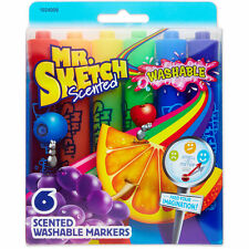 New Mr.Sketch Scented Washable Marker Set 6 Pkg-Chisel
