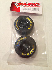 Traxxas 1/16 Mustang / Rally Goodyear Wrangler Tires & Black 8-spoke Wheels 7378