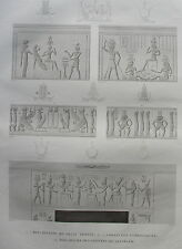 DESCRIPTION DE L'EGYPTE, 1809, KOUM OMBOU (OMBOS), PETIT  TEMPLE, COIFFURES