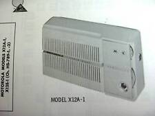 MOTOROLA X12A-1 & X12E-1 TRANSISTOR RADIO PHOTOFACT