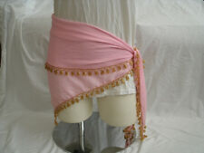 Egyptian Pink Belly Dancing Triangular Belt With A Row Of Beads All Around #14