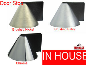 Floor mounted door stops STOPPERS Chrome Brushed Satin Brushed Nickel(DS005)