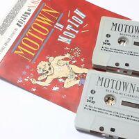 MOTOWN IN MOTION 1988 DOUBLE CASSETTE TAPE ALBUM COMPILATION STEVIE WONDER