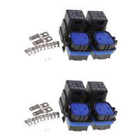 4 Set Waterproof 12V 40A Car Vehicle 4Pin Sealed Integrated Relay Socket Kit