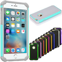 For iPhone 6 6s 7 8 Plus X XR XS 11 12 Pro Max Phone Case Silicone Hybrid Cover