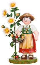 Hubrig Anabell Großfigur 35cm Blumenkind Blumenmädchen Erzgebirge Neu  + Bonus