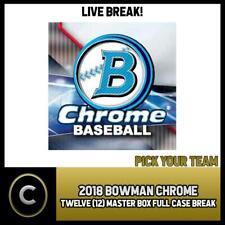 2018 Caja de béisbol 12 BOWMAN CHROME (Completo Funda) romper #A1039 - Elige Tu Equipo