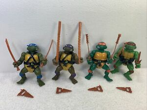 Lot of 4 Vintage Teenage Mutant Ninja Turtles TMNT 1988 Action Figures