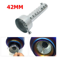 Silver Motorcycle Exhaust Can Muffler Insert Baffle DB Killer Silencer 42mm UK