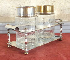 portant a the support metal argente 2 bocaux tea service