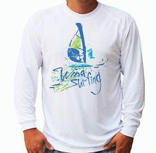 Wind Surfing Long Sleeve Upf 30 T-Shirt Boat Beach Sport Uv Protection Gift Art