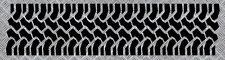 TRACE PNEU NOIR 4X4 4WD JEEP LAND ROVER AUTOCOLLANT STICKER 570mmX140mm (PB481)