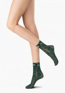 Oroblu Bicolor Lace lacy socks, two-colored lace, plays with contrast, floral
