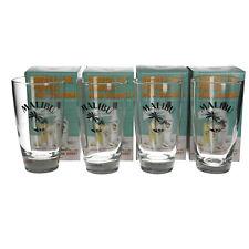 More details for 4 x  malibu rum pina colada highball glass gift box 50cl 500ml