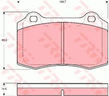 Brake Pads Set GDB1513 TRW 4254C6 C2C24016 C2C8361 6KL698151 30665552 21381 New